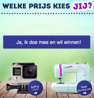 GoPro camera of luxe naaimachine winnen!