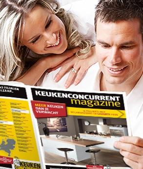 Bestel een Keukenconcurrent magazine! Vraag het vrijblijvend en Gratis aan en bekijk de allernieuwste keukentrends. Binnen 3 dagen in huis.