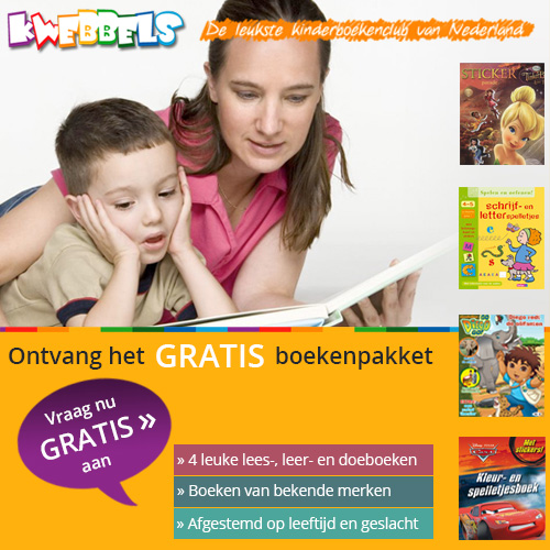 Gratis Kwebbels Kinderboeken t.w.v. €13.95 betaal slecht de verzendkosten van € 13.95