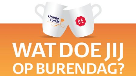 Op 22 september is het weer Burendag en Oranje Fonds heeft een leuke actie. Beantwoord de vraag om kans te maken op een blik Douwe Egberts koffie.