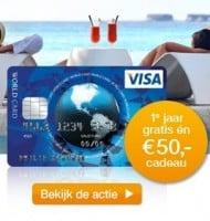 Visa World Card | 1 jaar gratis + €50 cadeau