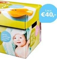 Gratis Kiekeboe box ophalen voor de pas geboren baby