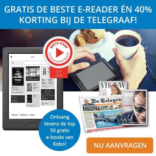 De Telegraaf | Gratis Kobo Glo HD E-reader t.w.v €129.-