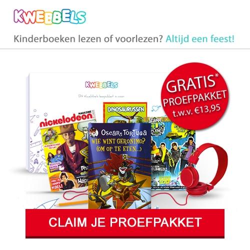 Kwebbels Kinderboeken met gratis cadeau t.w.v. € 49.95