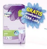 Vraag een gratis TENA Lady proefpakket aan