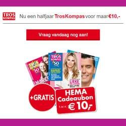 TrosKompas Abonnement €10 + Gratis Hema bon €10