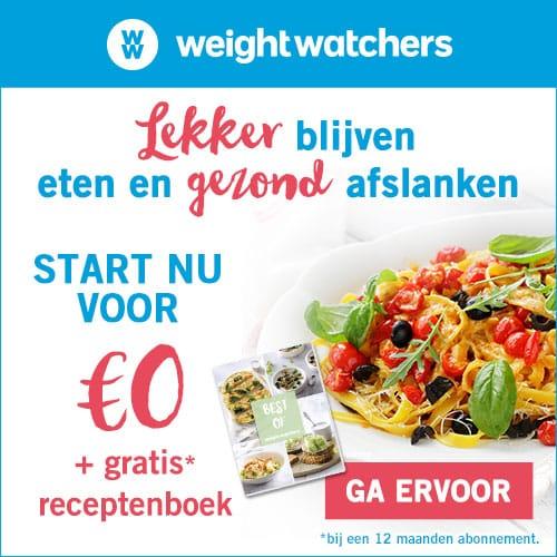 Weight Watcher nu 1 maand gratis + Kookboek
