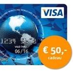 Visa Creditcard 1 jaar gratis en € 50.- cadeau