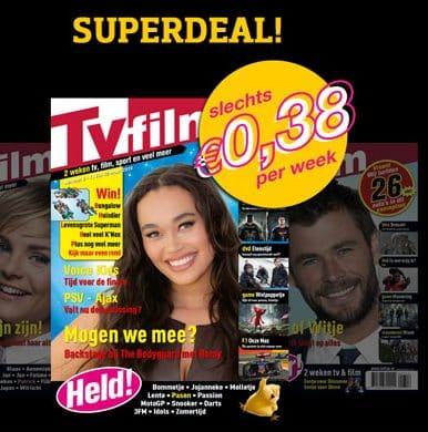 Tvfilm magazine met welkomstkorting van 40%