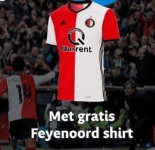 Gratis Feyenoordshirt of kampioenspakket voor alle fans! Plus€ 50.- korting bijeen overstap naar Qurrent energie. Sluit een voordelig abonnement af en bespaar veel op je maandlasten.