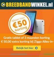 Ziggo internet met Gratis tablet + €50.- extra korting!