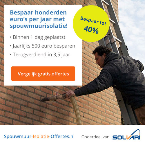 Gratis 5 offertes over spouwmuurisolatie | Win €500.-!