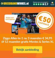Ziggo internet met 12 maanden gratis Movies & Series XL
