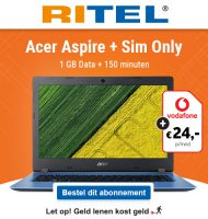 RITEL actie met Gratis Acer laptop bij abonnement!