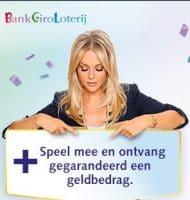 BankGiro Loterij met Gegarandeerde uitbetaling en Chantal Jansen geeft aan hoeveel geld je kan winnen!