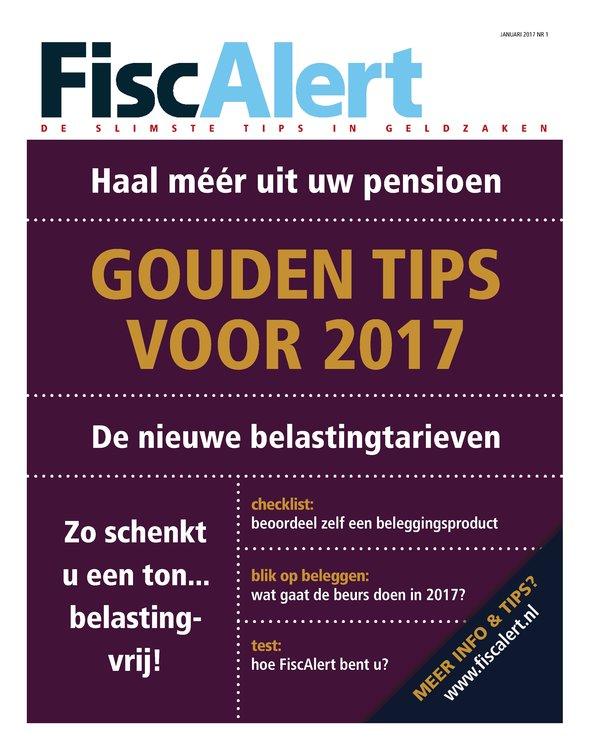 Lees alles over financiëlezaken met dit handige FiscAlert magazine. Na 10 nummers mag je zelf de prijs bepalen.