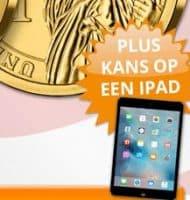 Vergulde Kennedy Dollar voor €9.95 + kans op iPad