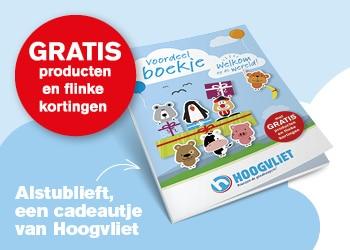 Ontvang bij de geboorten van je kindje een gratis Babydoos. Kom met het geboortekaartje naar uw Hoogvliet supermarkt en ontvang heel veel babyvoordeel!