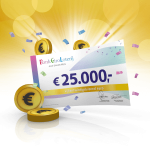 BankGiro Loterij voordeel tussen € 20.- tot € 30000,-.