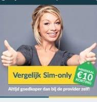 Bij Belwinkel altijd € 10.- korting op een Sim Only abonnement!