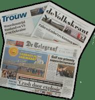 Nederlandse kranten ook jou regio nu €1.- per week!