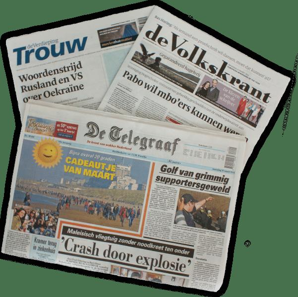 Favoriete krant met kans op omafiets of Kobo e-reader