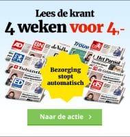 Het laatste nieuws bijna gratis in de bus! Betaal slecht €4.- voor 4 weken en kies de krant uit je eigen regio of een van de landelijke kranten.