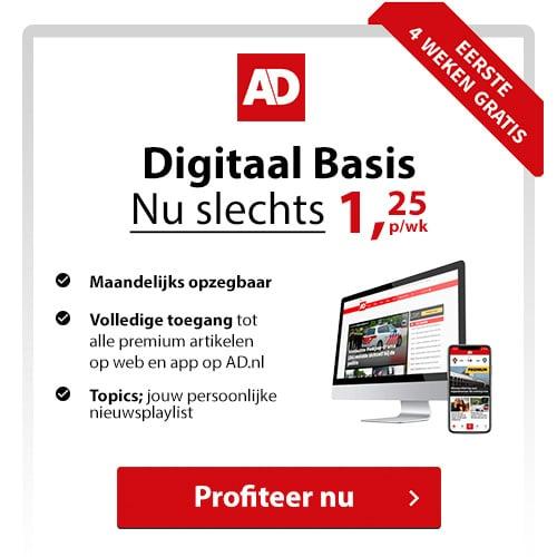 Wil je Gratis 4 weken het Algemeen dagbladDigitaal lezen? Geen probleem dat kan! Daarna betaal je € 1.25 per maand en is het abonnement maandelijks opzegbaar.