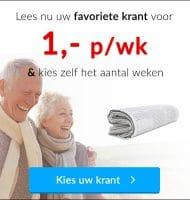 Gratis 4 weken AD lezen voor € 4.-