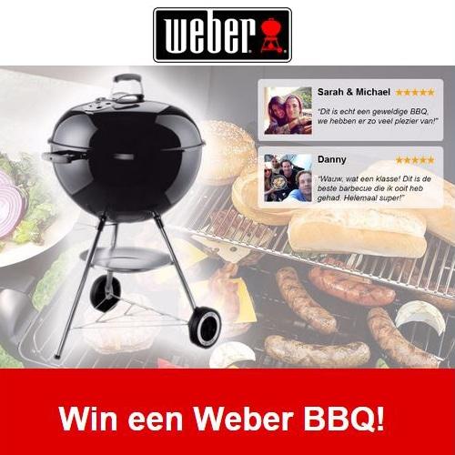Weber wil het succes graag met iedereen vieren! Daarom starten ze een wedstrijd waar de je nieuwste Weber Barbecue kunt winnen.