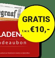 Telegraaf aanbieding! Lees een half jaar met 50% korting! Daarnaast ontvangt u 10 euro korting op uw favoriete magazine via Bladen.nl!