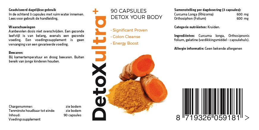 Detox Ultra compleet ontgiften in 30 dagen!