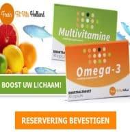 Probeer eenmalig het Multivitamine + Omega 3 kwartaalpakket van Fresh Fit Vitamines Holland.