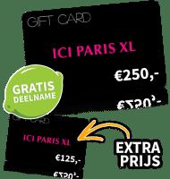 Maak kans op een ICI Paris giftcard t.w.v. € 250,- en laat je gegevens achter. En als extra prijs ontvang je nogmaals een giftcard,