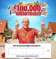 Postcode loterij vakantiegeld verdienen en direct kans maken op €25000.-. Speel de eerste maand gratis en cash vandaag nog het geld op je rekening. Gegarandeerd prijs!