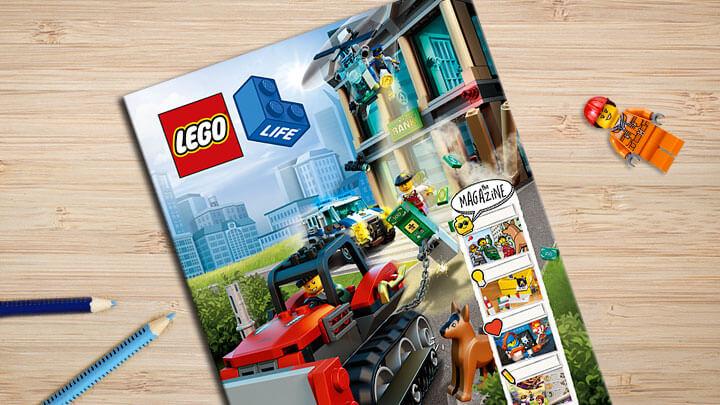 Ben je tussen 5 en 9 jaar vraag dan gratis het LEGO Life Magazine aan. Maak eenvoudig een LEGO ID profiel aan en je kunt direct een gratis jaar abonnement aanvragen.
