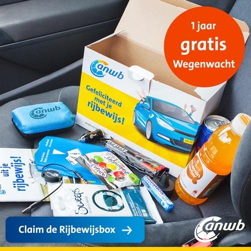 Vraag bij de ANWB een gratis ANWB rijbewijsbox aan inclusief Wegenwacht pechhulp voor 1 jaar.