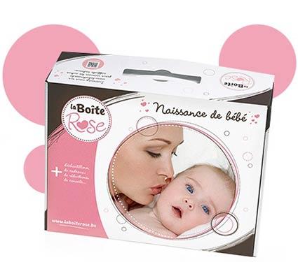 Voor alle baby's uit België een gratis Roze Doos
