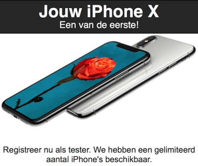 Win de iPhone X