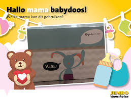 Gefeliciteerd! Om dit te vieren mag je bij Jumbo een gratis Hallo Mama Babydoos ophalen.