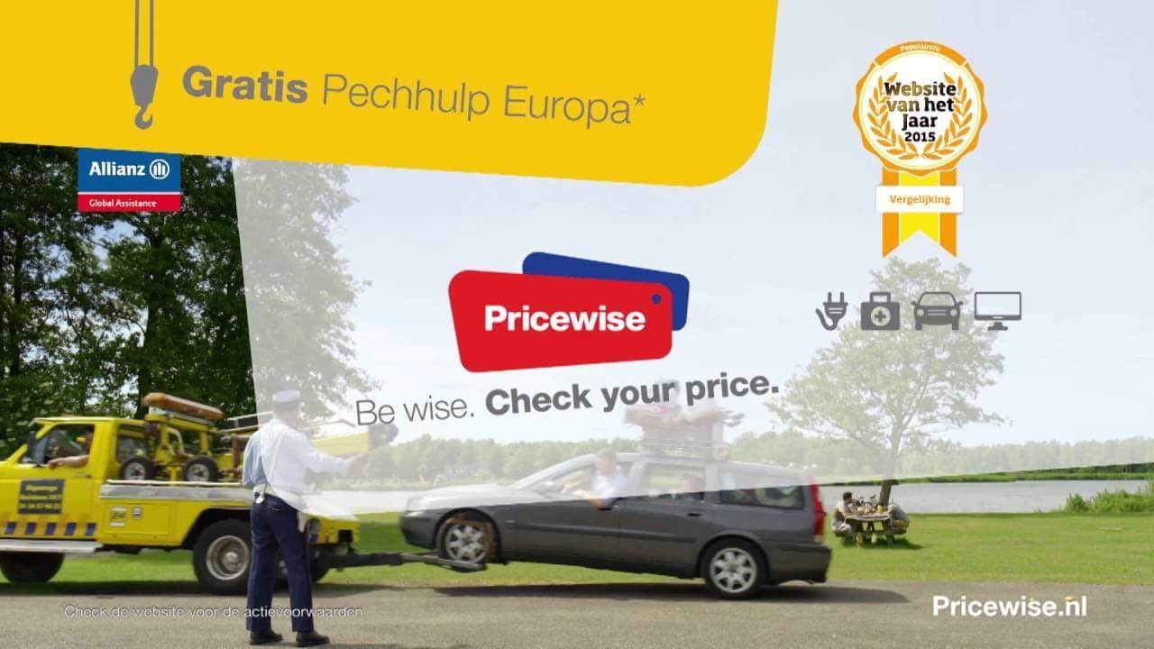 Pechhulp Gratis | Pricewise autoverzekering 13% korting