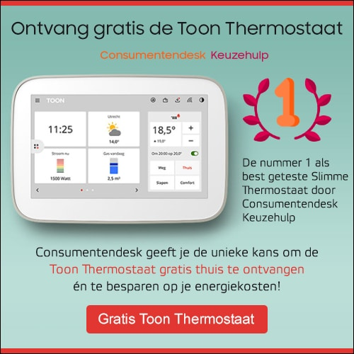 """Gratis Toon thermostaat """"slimme thermostaat"""" t.w.v. € 275.-"""