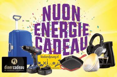 Nuon energie met gratis energiecadeau t.w.v. € 149.95