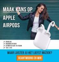 Maak kans op gratis Apple Airpods!