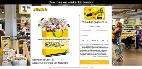 Maak GRATIS kans op een Jumbo waardebon t.w.v. € 250,-