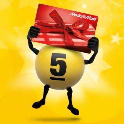 MediaMarkt cadeaukaart bij de Lotto trekking