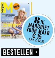 Margriet inspiratietijdschrift | 8 nummers voor slechts € 15.-