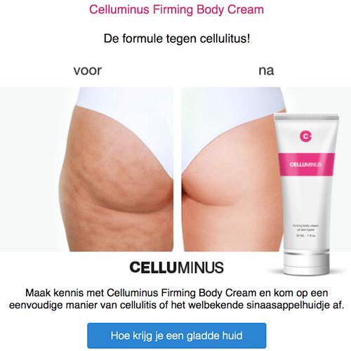 Sinaasappelhuid en Cellulitis verwijderen | Celluminus helpt