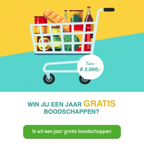 Win Gratis boodschappen t.w.v € 3000,-