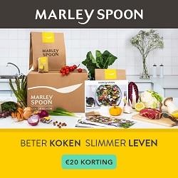 Marley Spoon maaltijdbox Gratis bezorging + €20 voordeel